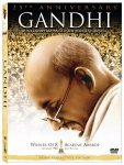 Gandhiji in the DVD movie jacket
