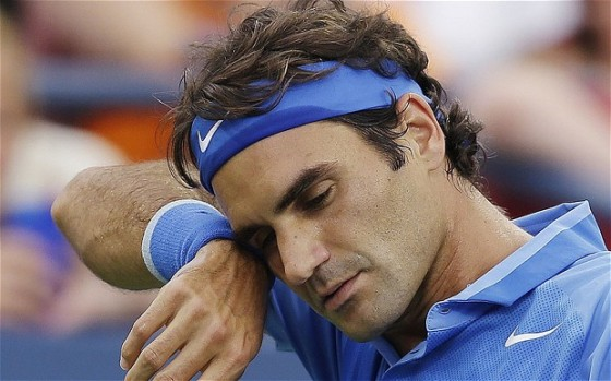 Roger Federer after his dismal performance in the 4th round at the US Open in New York