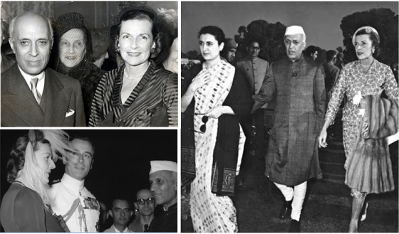 Post cards from the past: Nehru, the Mountbattens and Indira Gandhi.