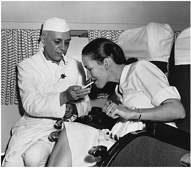 A private moment: Nehru and Edwina.